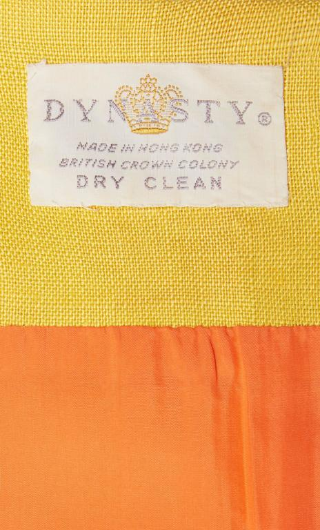 Dynasty orange and yellow dress, circa 1966 5
