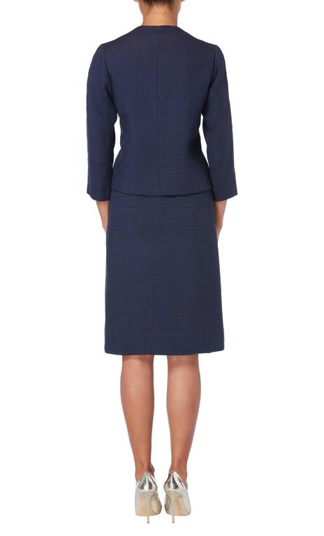 Balenciaga haute couture navy skirt suit, circa 1963 3