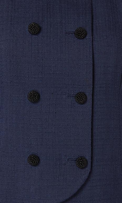 Balenciaga haute couture navy skirt suit, circa 1963 4