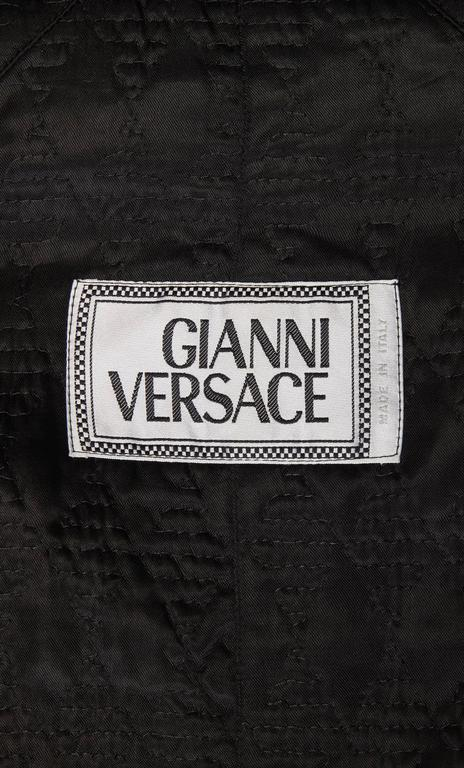Women's Versace Gold & black printed coat, Autumn/Winter 1991 For Sale