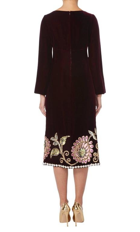 Black Dior Haute couture purple dress, Autumn/Winter 1969 For Sale