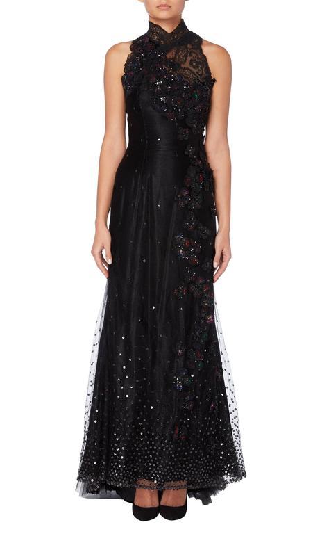 Christian Lacroix haute couture black gown, Autumn/Winter 1995 2