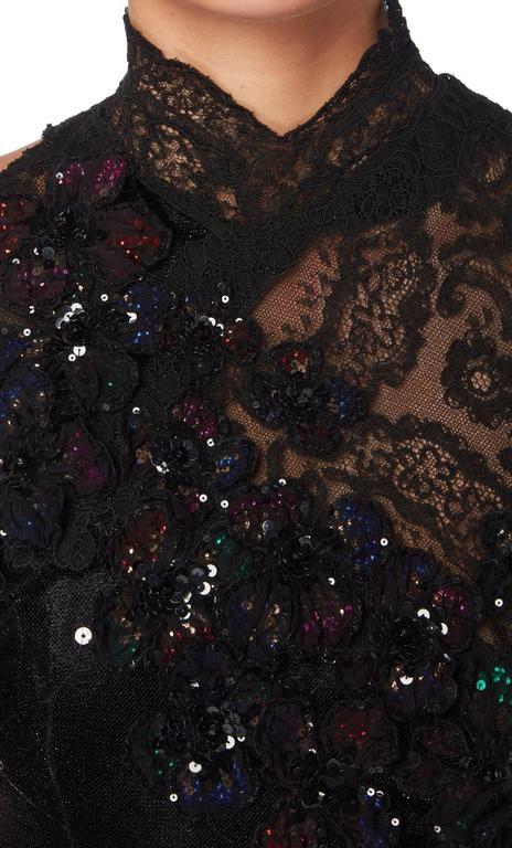 Christian Lacroix haute couture black gown, Autumn/Winter 1995 4