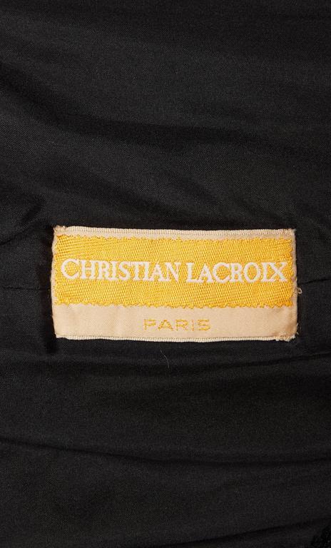Christian Lacroix haute couture black gown, Autumn/Winter 1995 5