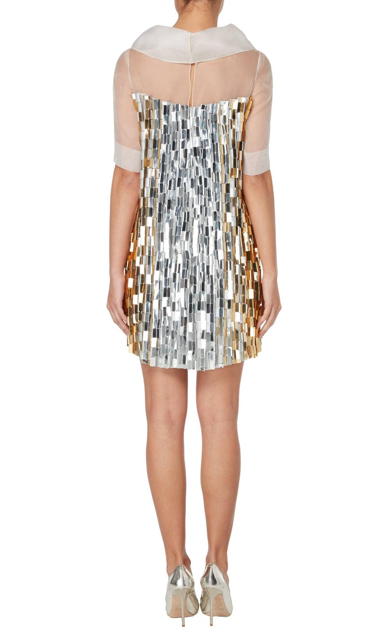 Nicholas Oakwell, haute couture silver and gold dress ...