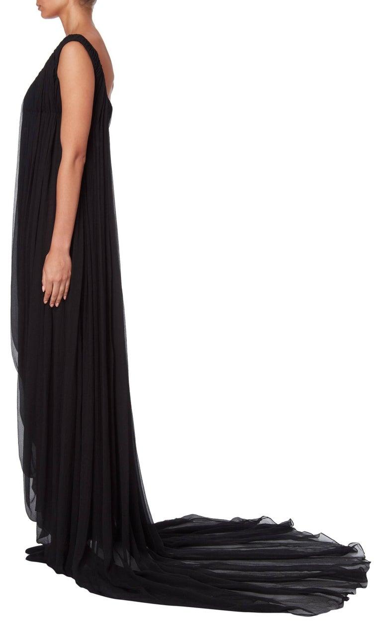 Alexander McQueen Girl in a Tree Black Dress Autumn Winter 2008 For Sale 1