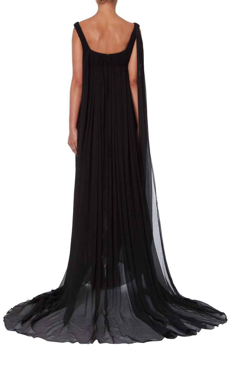 Alexander McQueen Girl in a Tree Black Dress Autumn Winter 2008 In Excellent Condition For Sale In London, GB