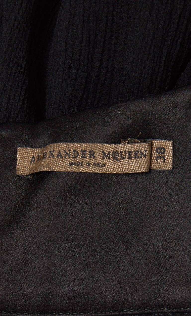 Alexander McQueen Girl in a Tree Black Dress Autumn Winter 2008 For Sale 2