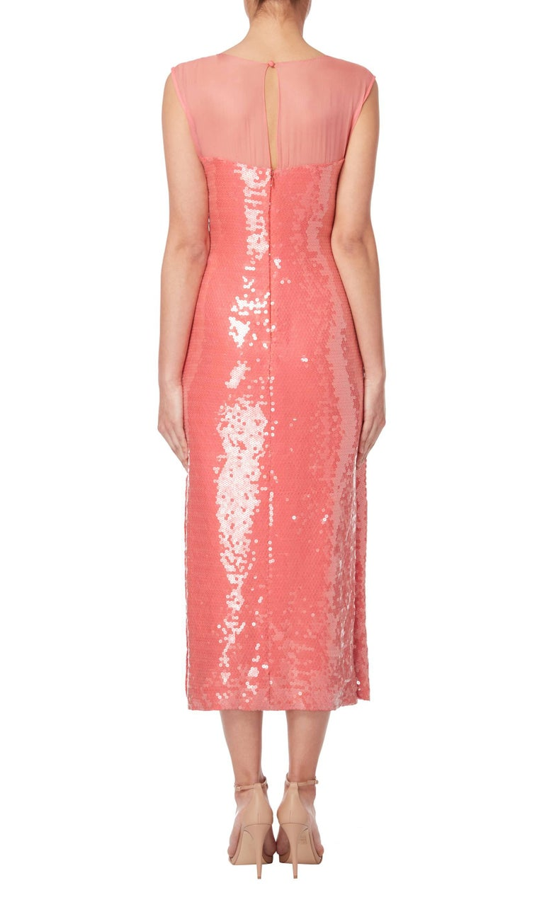 Bill Blass Pink sequin gown, circa 1979 For Sale at 1stdibs