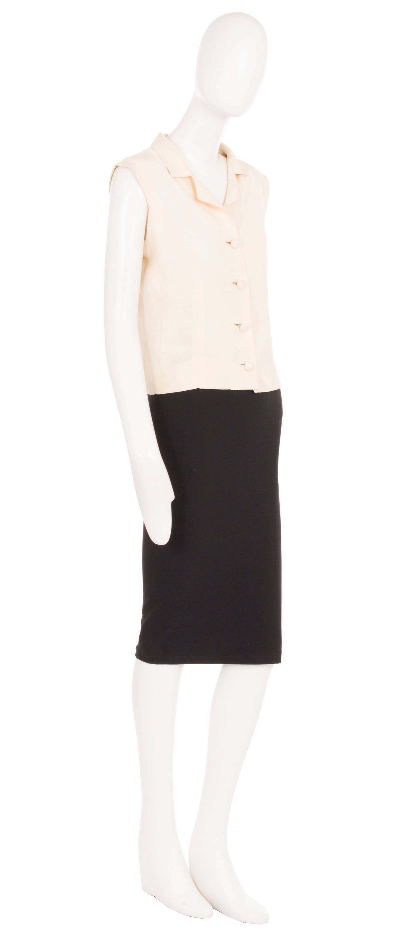 Balenciaga haute couture ivory silk shirt circa 1968 for for Haute couture shirts