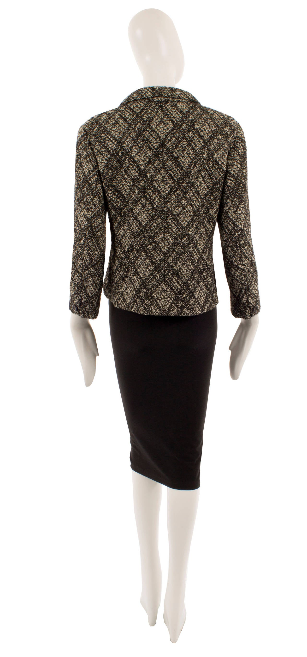 Yves saint laurent haute couture wool jacket circa 1964 for Haute couture jacket