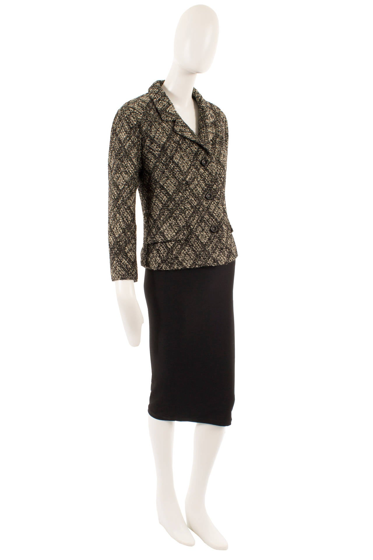 yves saint laurent haute couture wool jacket circa 1964 for sale at 1stdibs. Black Bedroom Furniture Sets. Home Design Ideas