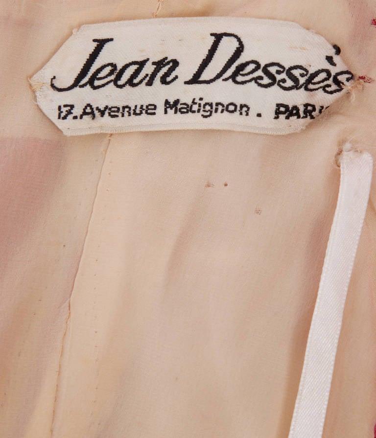 Jean Dessès Haute Couture Pink Chiffon Dress, Circa 1965 5