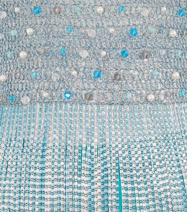 Azzaro Haute Couture Metallic Turquoise Ensemble, Circa 1978 4