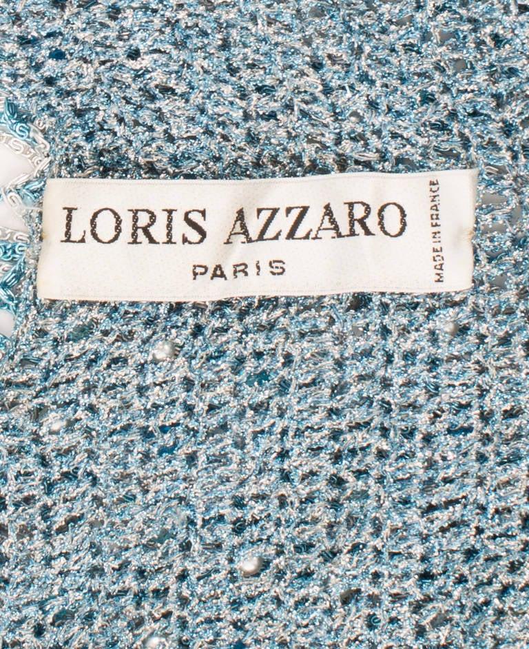 Azzaro Haute Couture Metallic Turquoise Ensemble, Circa 1978 5