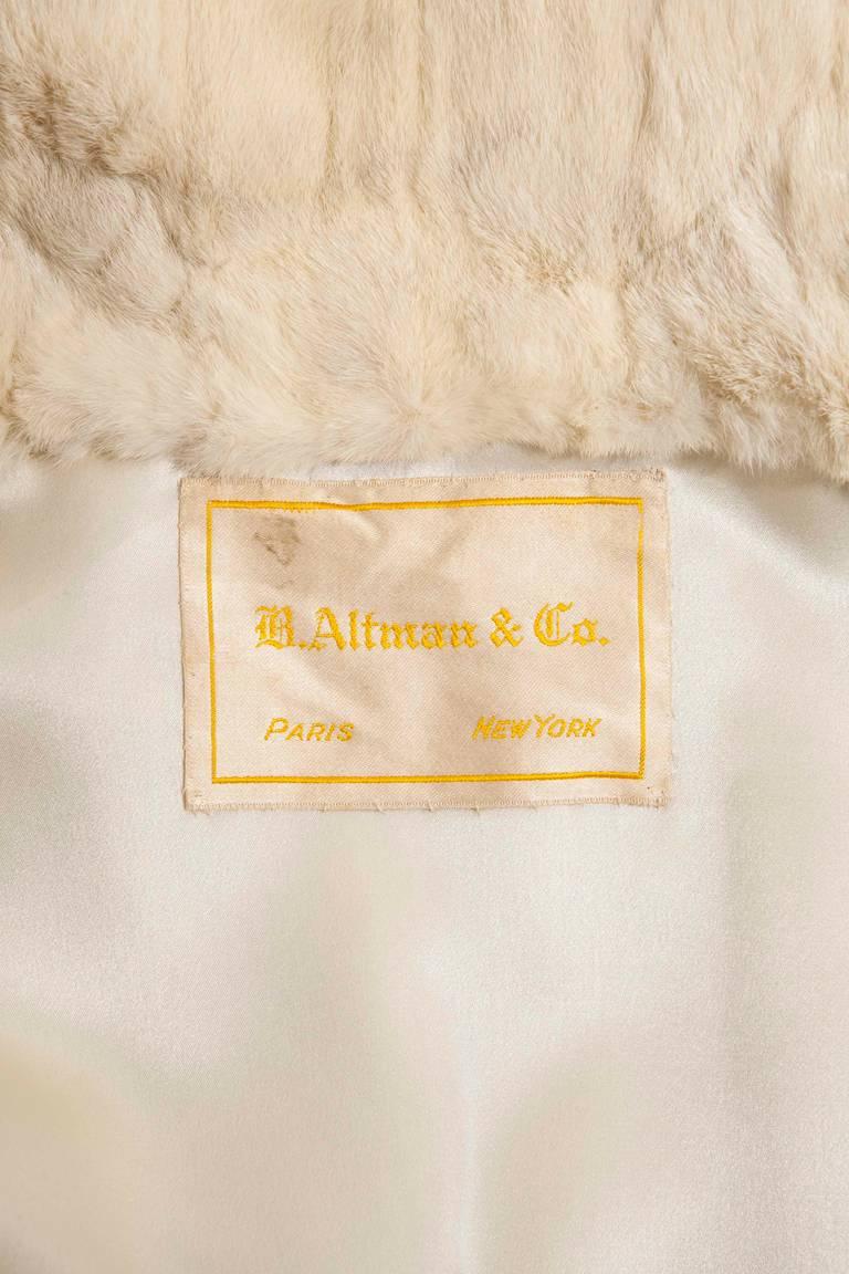 A B.Altman & Company cape, circa 1922 5