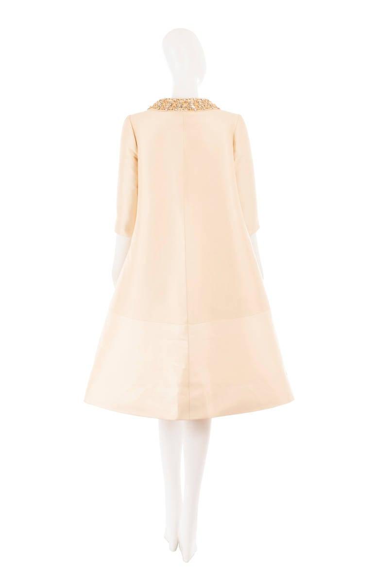 Lanvin Couture Ivory Silk Coat, Circa 1962 3