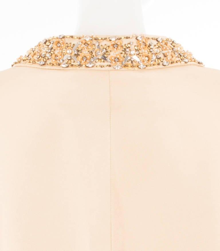 Lanvin Couture Ivory Silk Coat, Circa 1962 4
