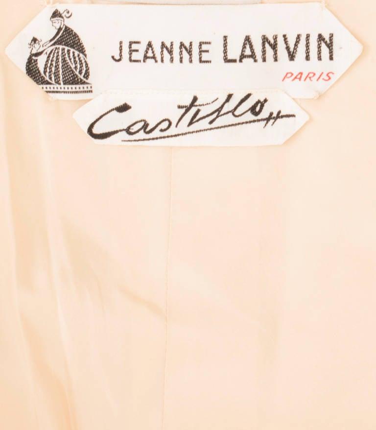 Lanvin Couture Ivory Silk Coat, Circa 1962 5