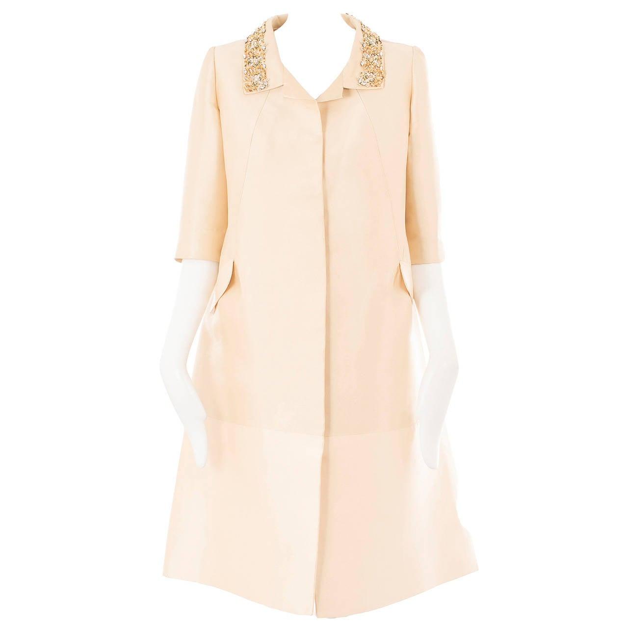 Lanvin Couture Ivory Silk Coat, Circa 1962 1