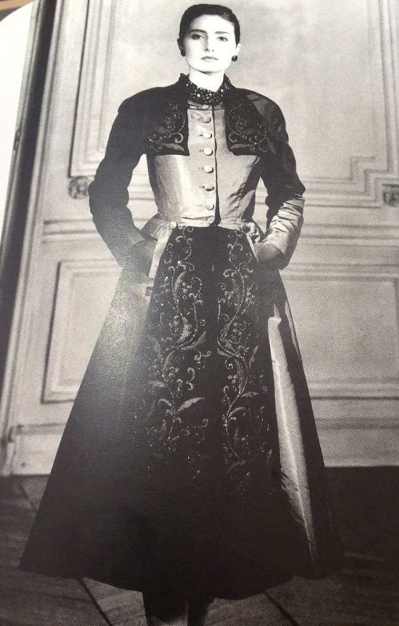 Dior Haute Couture Black Silk Taffeta Dress Coat, Autumn Winter 1948 5