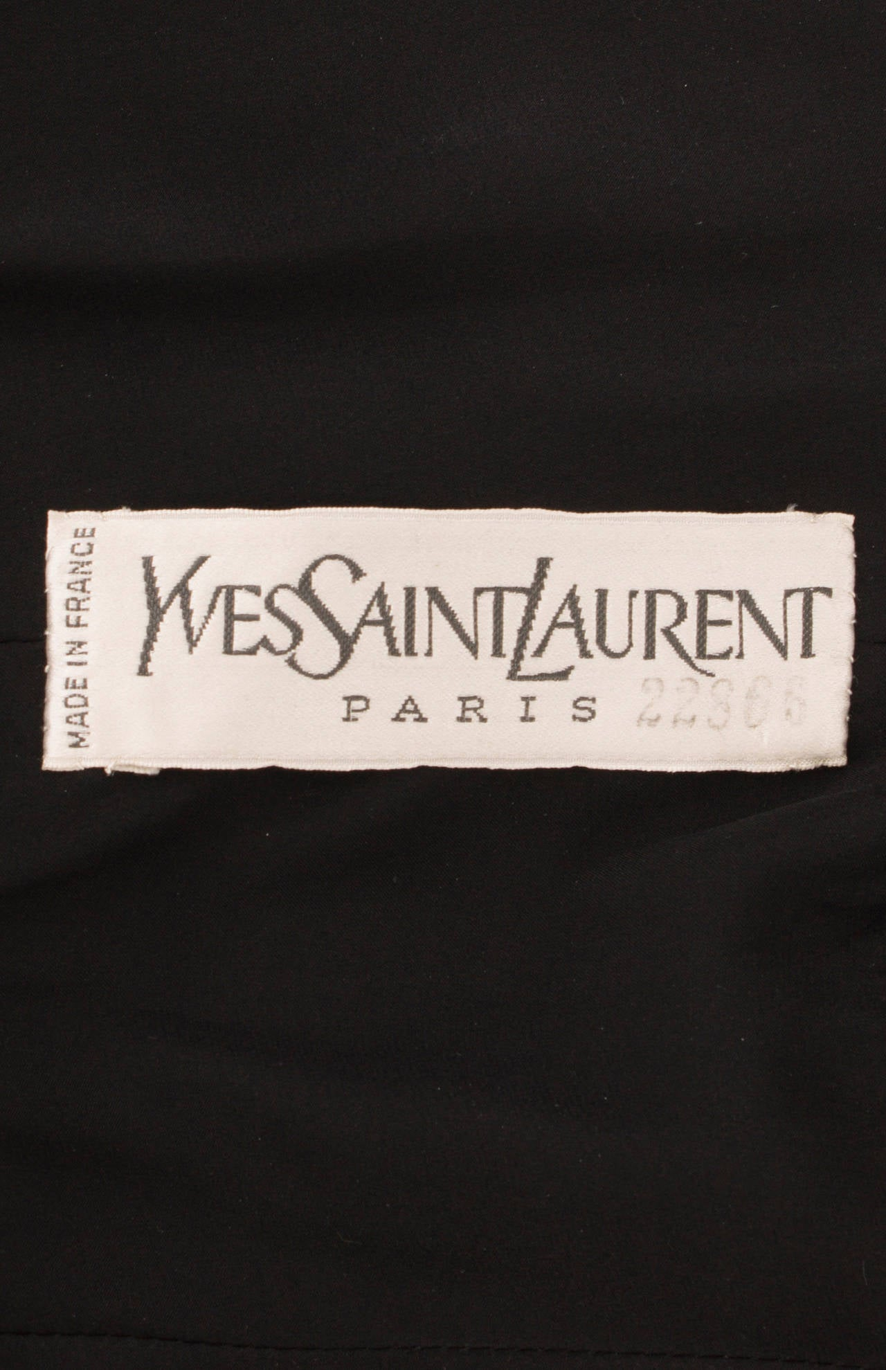 An yves saint laurent haute couture dress circa 1970 for for Haute couture labels