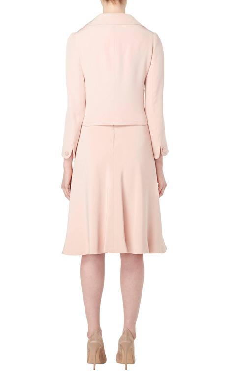 Women's Guy Laroche Haute couture pink dress suit, circa 1970 For Sale