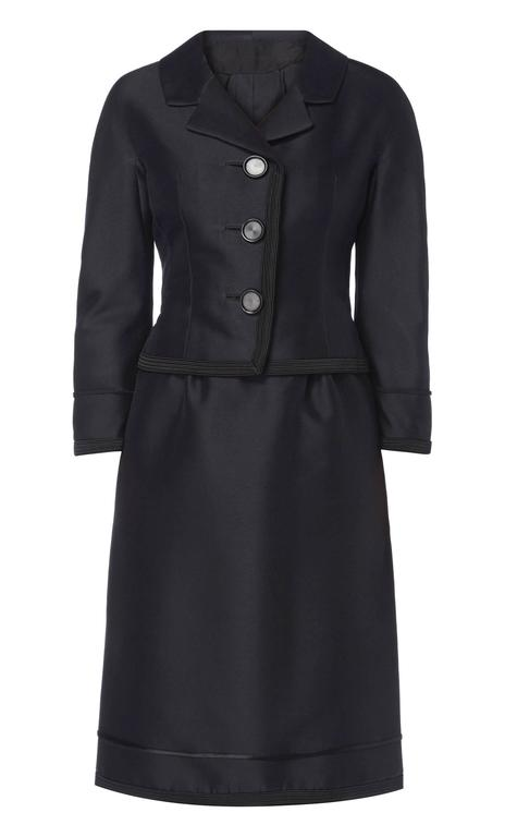 Dior black skirt suit, circa 1962 2