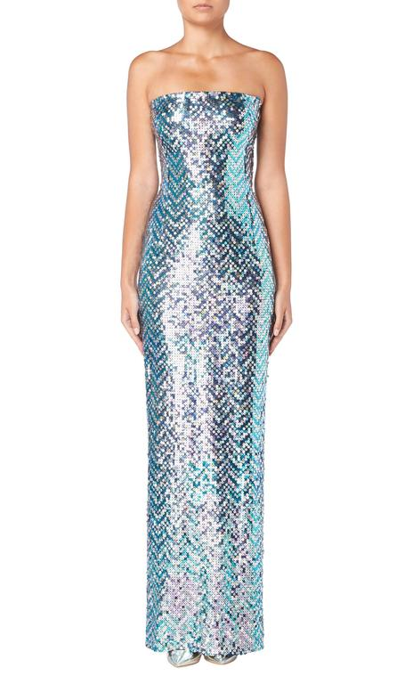 Pierre Cardin haute couture sequin gown, 1991 For Sale 1