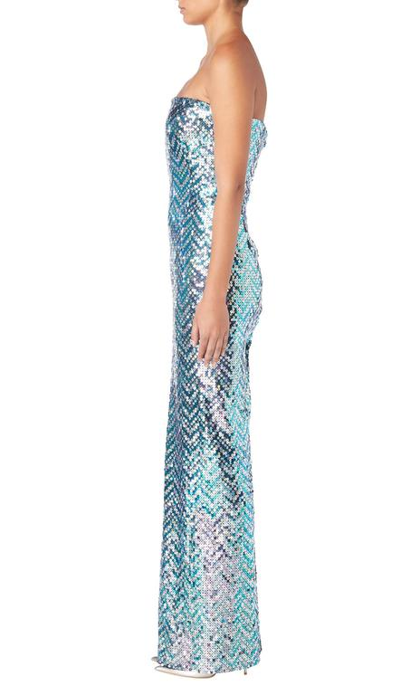 Pierre Cardin haute couture sequin gown, 1991 For Sale 2