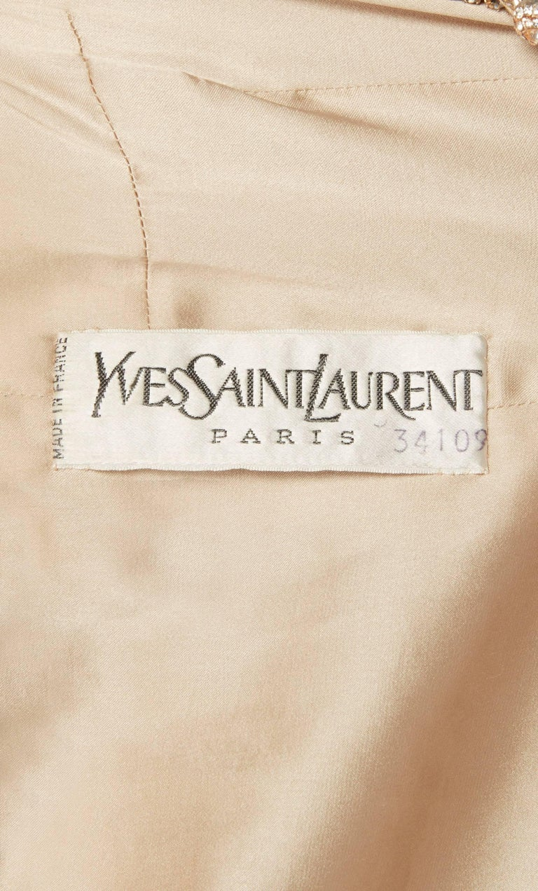 Women's Yves Saint Laurent Haute couture ivory jacket, Autumn/Winter 1974 For Sale