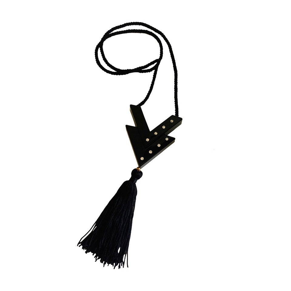 Vintage Valentino Tassel Necklace For Sale