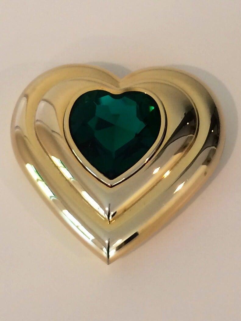 Yves Saint Laurent Dazzling Emerald Green Crystal Jewel