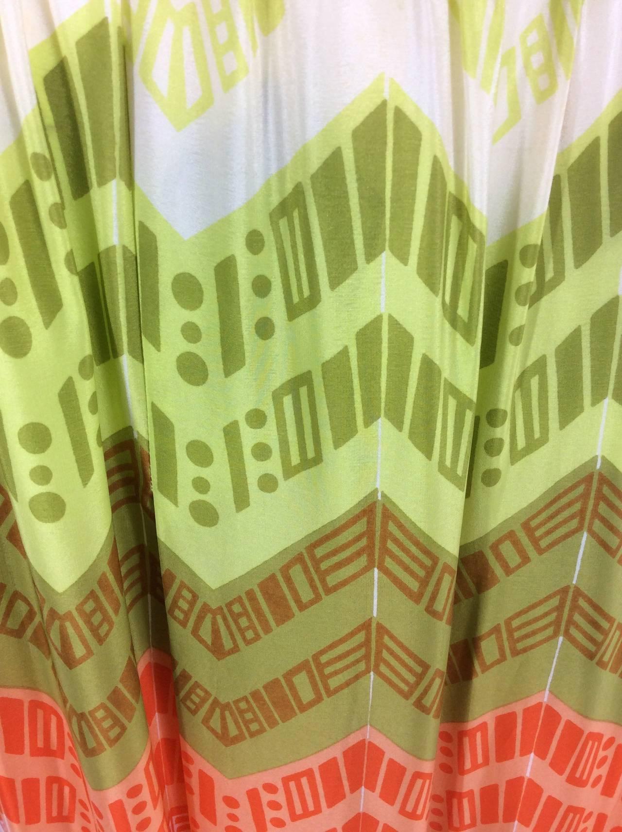 1970s Lanvin Couture Rainbow Fringe Maxi Skirt 3