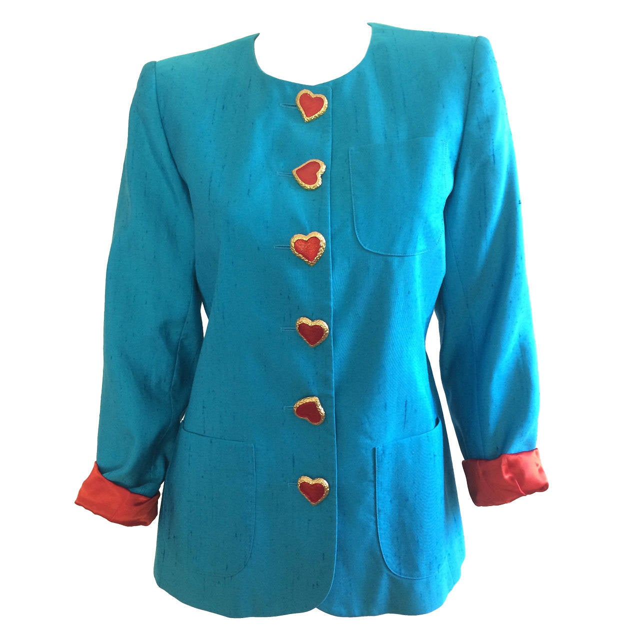 Yves Saint Laurent Heart Button Jacket