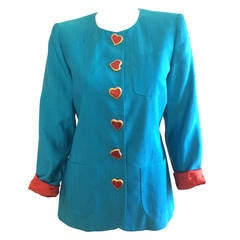 Yves Saint Laurent Heart Button Jacket