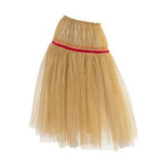 Comme des Garcons Gold Tulle Skirt