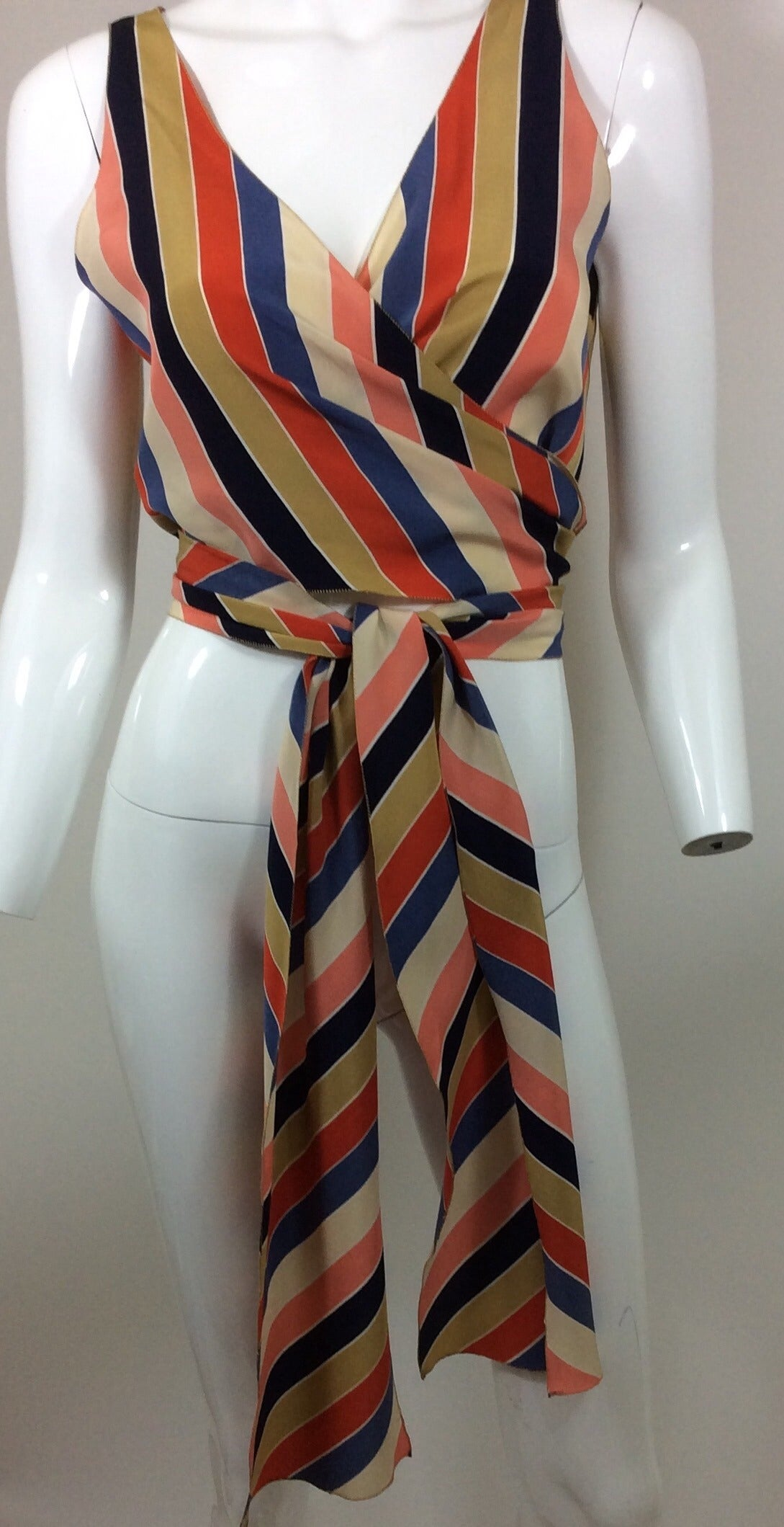 Vintage Chloe Silk Wrap Top 3