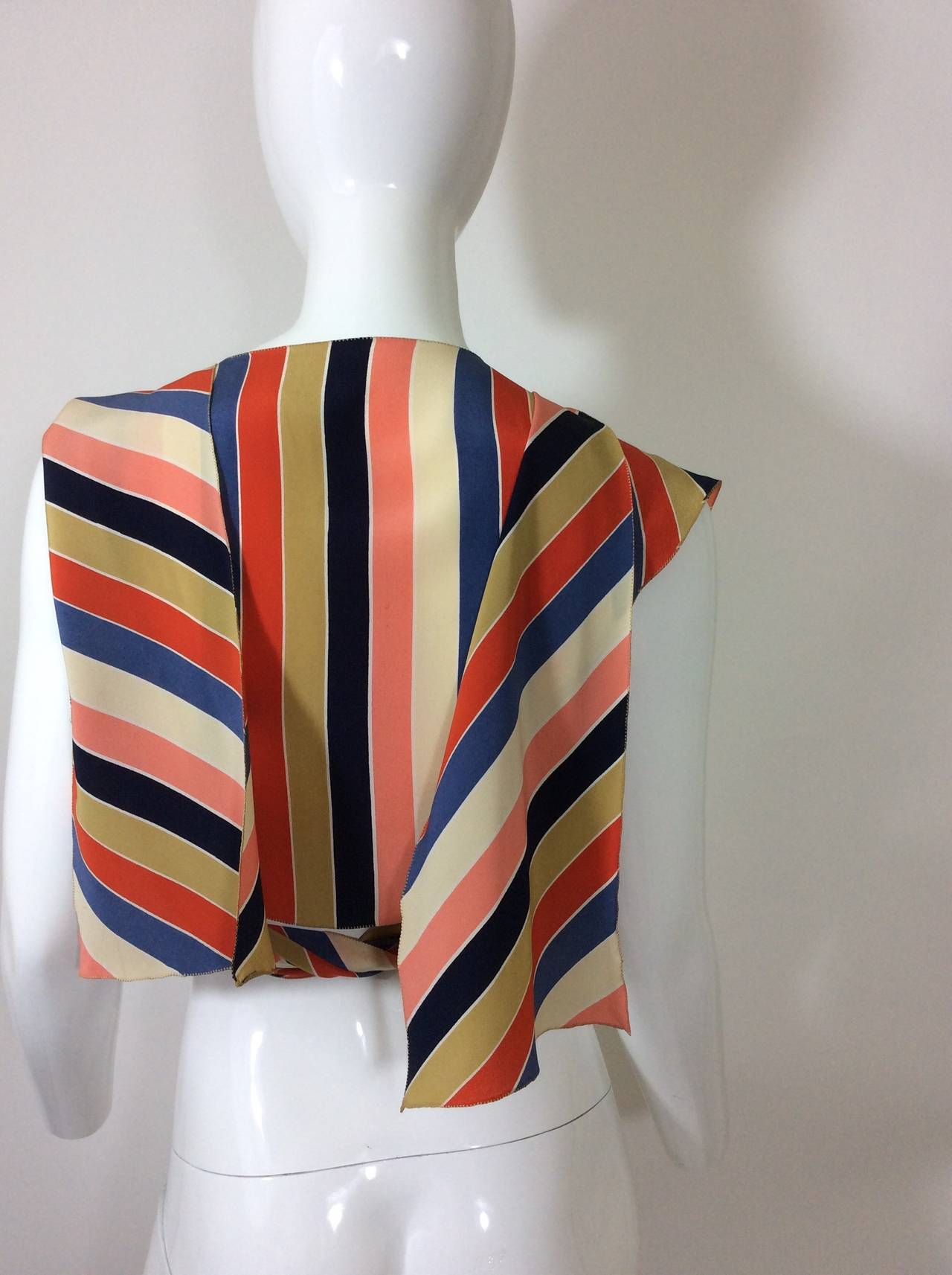 Vintage Chloe Silk Wrap Top 7