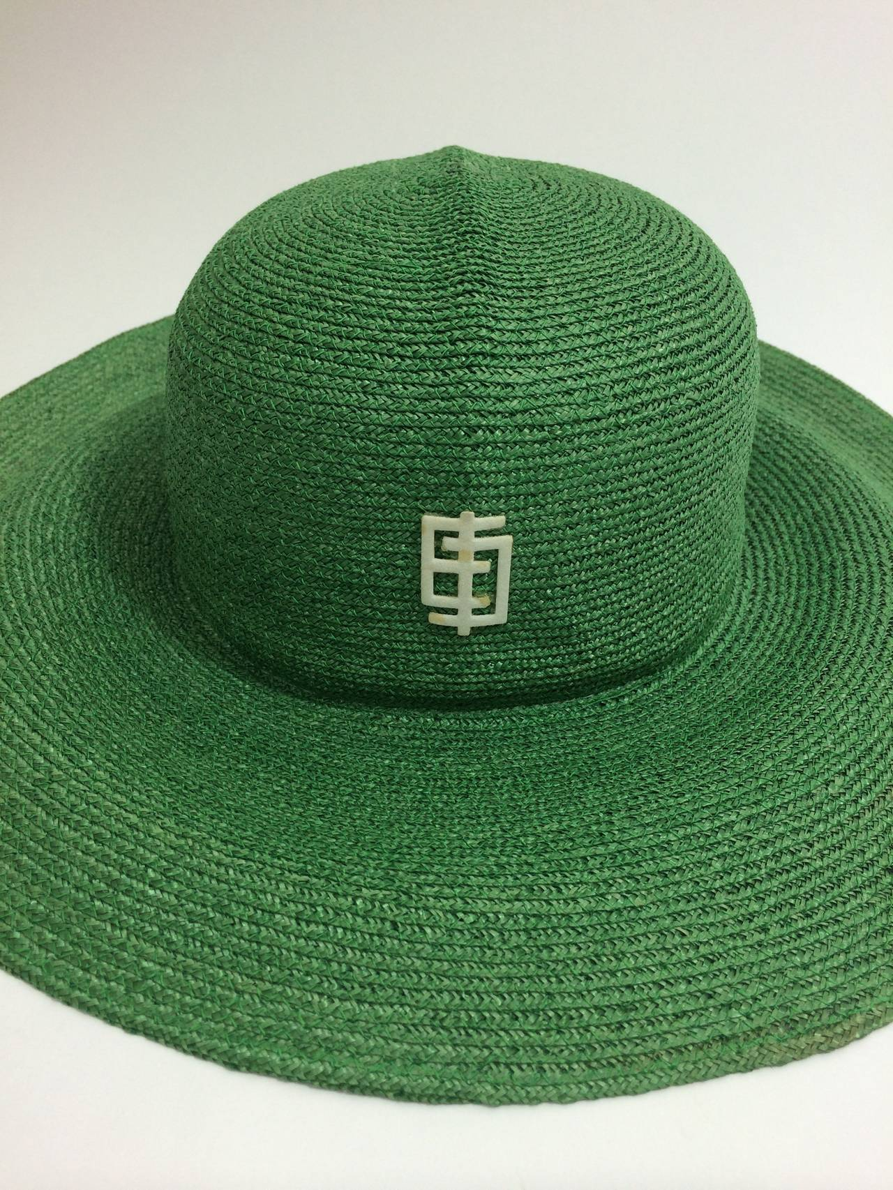 Vintage Pucci Green Sun Hat 4