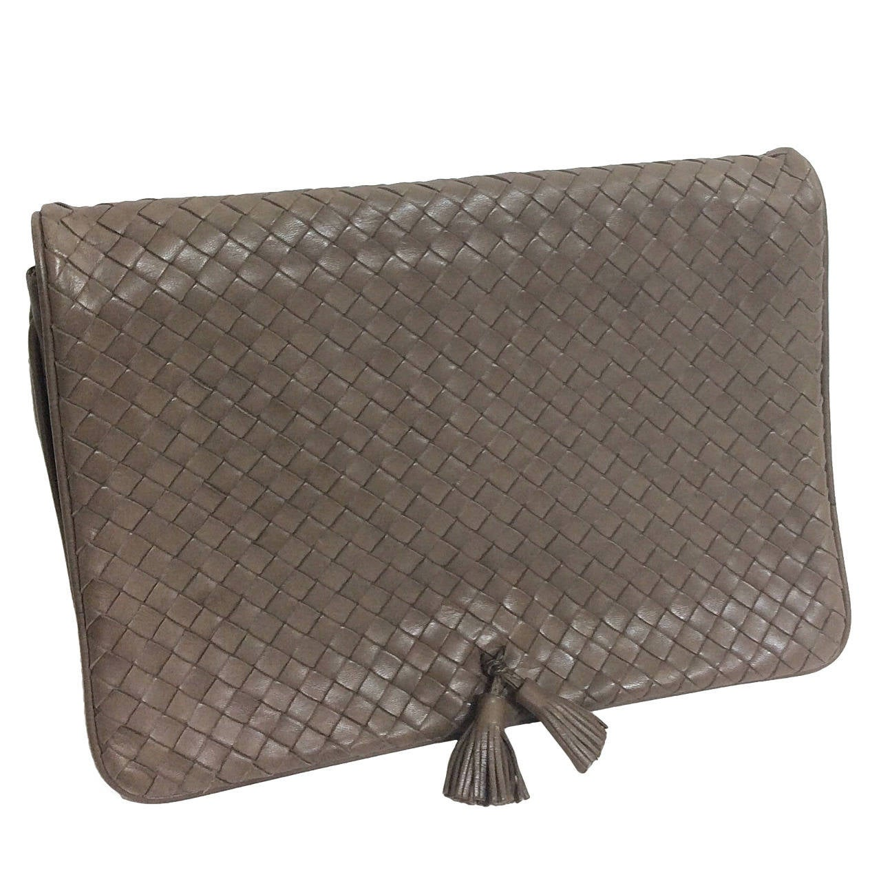 bottega veneta woven leather clutch vintage for sale at