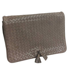 Bottega Veneta Woven Leather Clutch Vintage