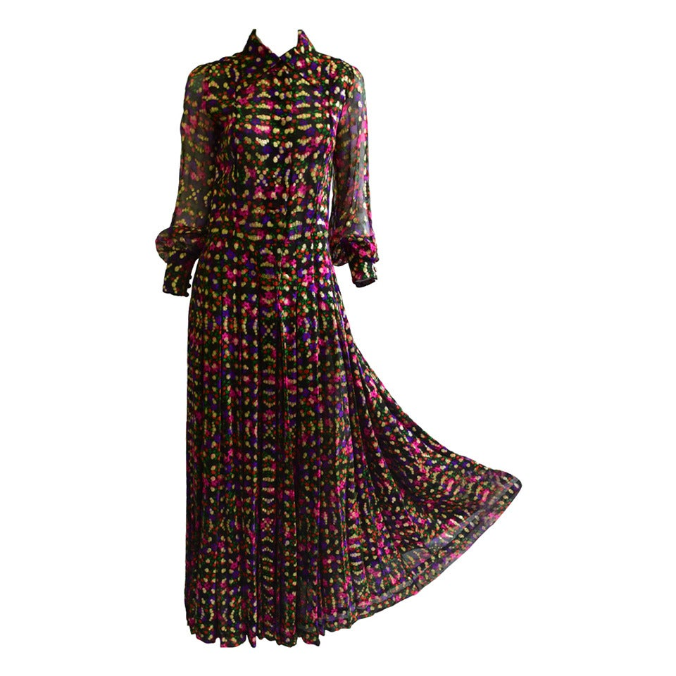 Stunning 1970s Chanel Haute Couture Gown no. 45509 at 1stdibs