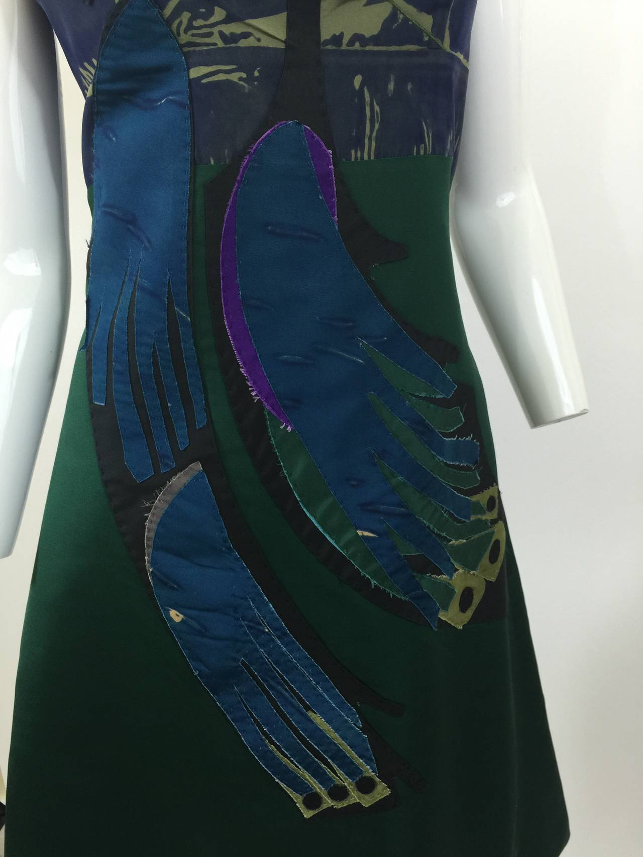 Blue Prada Spring  2005 Runway Look 53 Parrot Dress For Sale