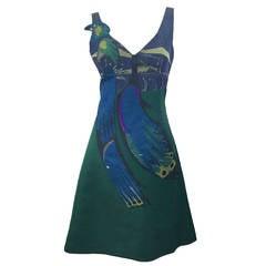 Prada Spring  2005 Runway Look 53 Parrot Dress