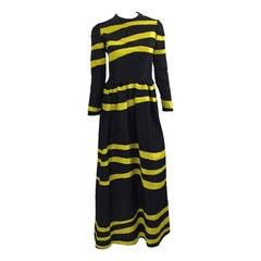 Vintage Christian Dior Haute Couture 1971 Silk Taffeta Dress No155429 Documented