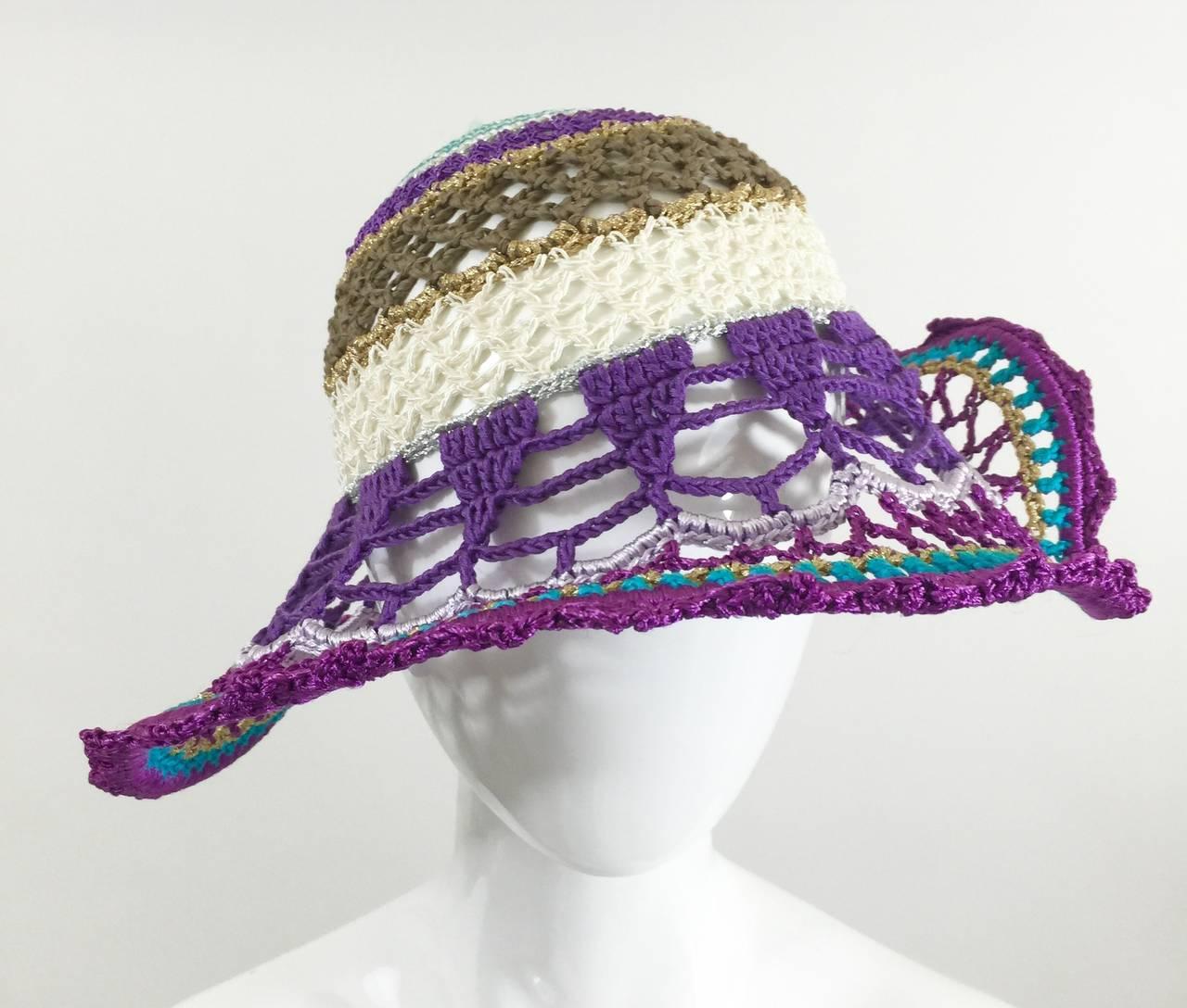 Gorgeous Missoni Crochet Hat 2