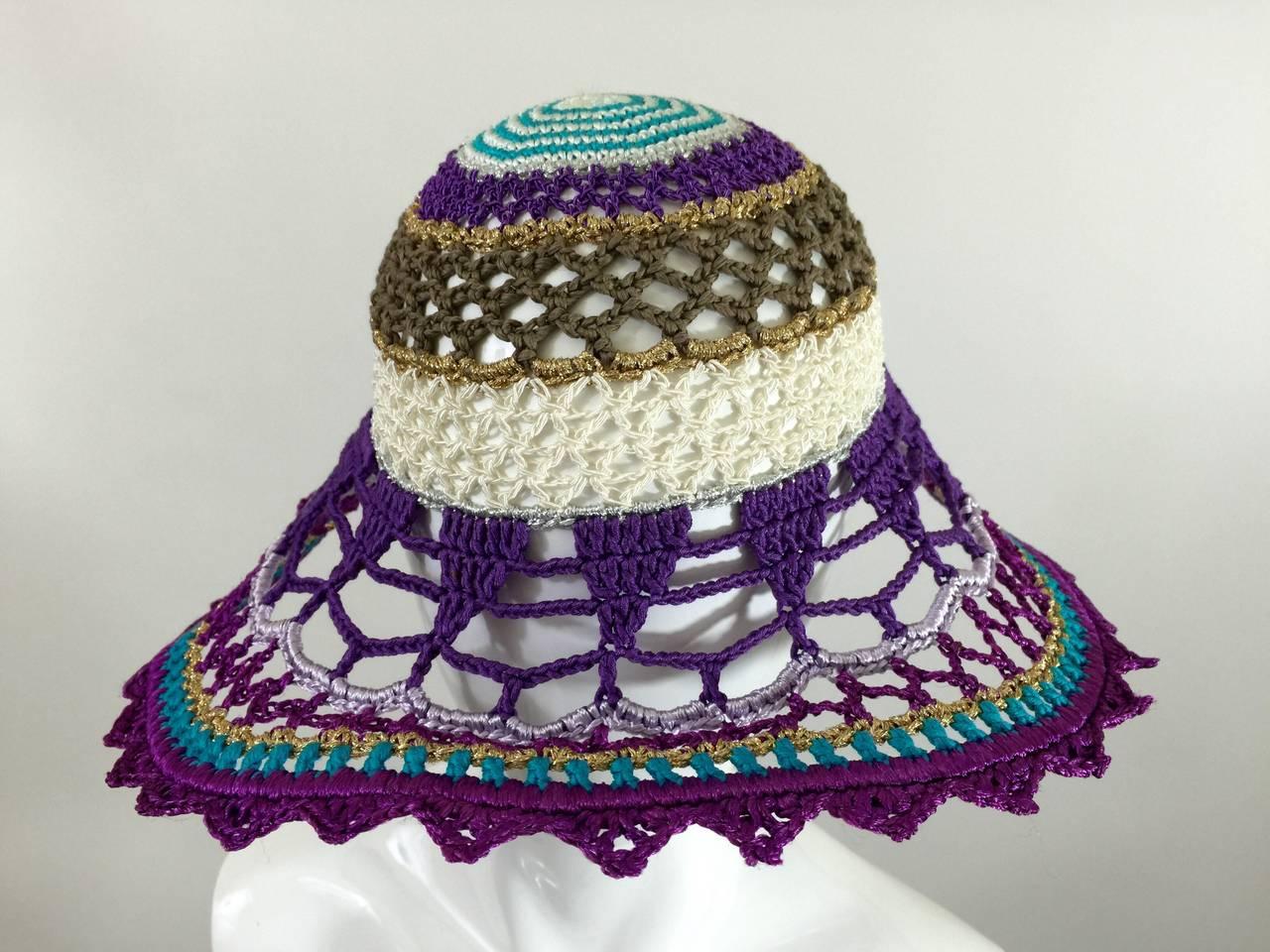 Gorgeous Missoni Crochet Hat 6