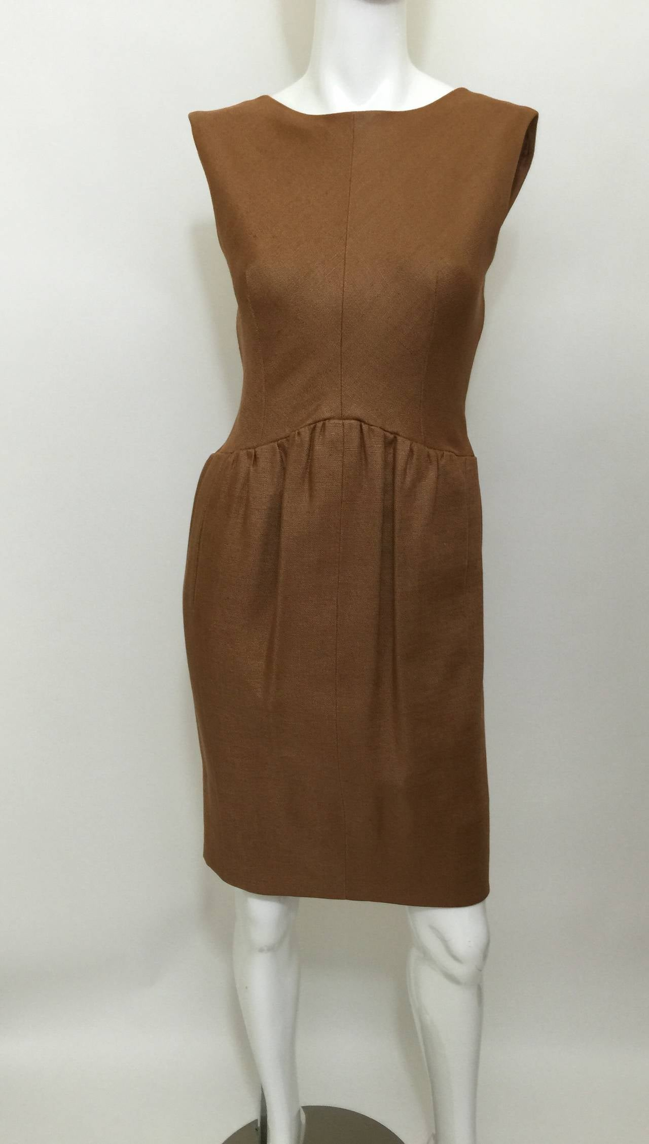 Brown  c.1961 Norman Norell Dress as seen on Jacqueline Kennedy  For Sale