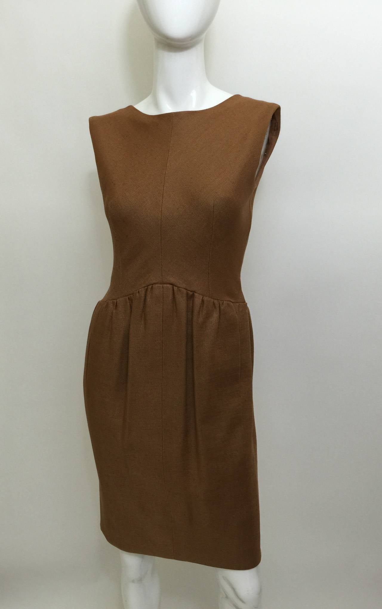 c.1961 Norman Norell Dress as seen on Jacqueline Kennedy  In Excellent Condition For Sale In Boca Raton, FL